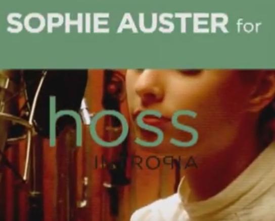 HOSS INTROPIA+SOFÍA AUSTER